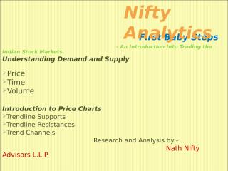 First Baby Steps -Introduction to  Price Charts.ppt