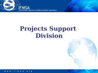Projects Support Division Director Presentation by Vesna.ppt