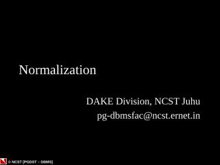 09-Normalization.ppt
