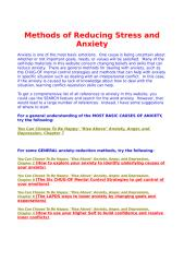 Methods of Reducing Stress and Anxiety.doc