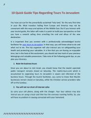 10 Quick Guide Tips Regarding Tours To Jerusalem.pdf