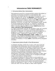 Intemeierea Tarii Romanesti.doc