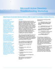 Active Directory Troubleshooting Datasheet.doc